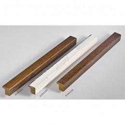 SCOM15/83 15x14 - mała biały kornik - srebrny pas ramka do zdjęć i obrazków