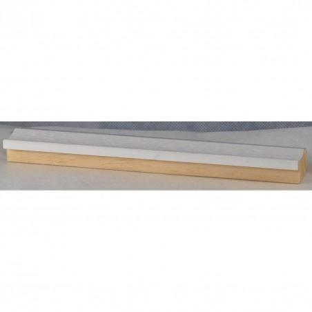 LMF1851 35x15 - drewniana bianco - srebrny pasek rama do obrazów i luster sample1