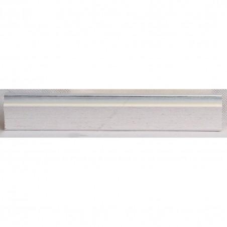 LMF1851 35x15 - drewniana bianco - srebrny pasek rama do obrazów i luster sample2