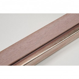 LMF1851 35x15 - drewniana noce orzech - srebrny pasek rama do obrazów i luster