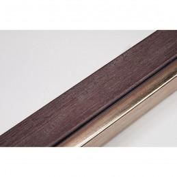 LMF1851 35x15 - drewniana wenge - srebrny pasek rama do obrazów i luster