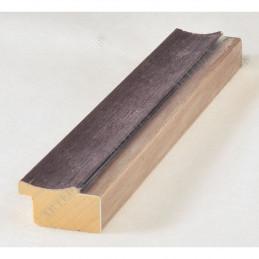 LMF1851 35x15 - drewniana wenge - srebrny pasek rama do obrazów i luster sample
