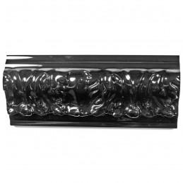 PLA4100/LN 86x49 - szeroka restyle czarna połysk rama do obrazów i luster z góry