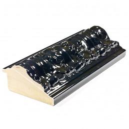 PLA4100/LN 86x49 - szeroka restyle czarna połysk rama do obrazów i luster z przodu