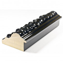PLA4100/LN 86x49 - szeroka restyle czarna połysk rama do obrazów i luster z tyłu