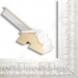 PLA4100/LB 86x49 - szeroka restyle biała połysk rama do obrazów i luster sample1