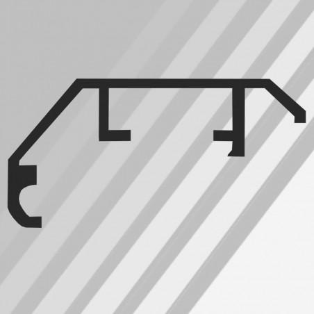 ALUS9 - szeroka rama aluminiowa srebrna anoda  34x17