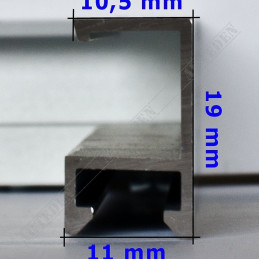ALUS010 - rama aluminiowa - wymiary