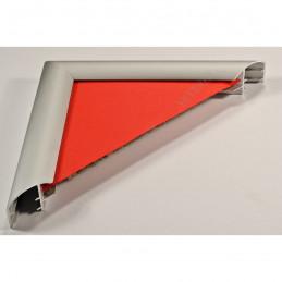 ALUS5 - rama aluminiowa srebrna anoda owal - przekrój