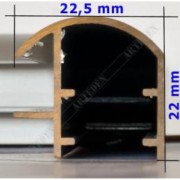 ALUS5 - rama aluminiowa srebrna anoda owal - wymiary