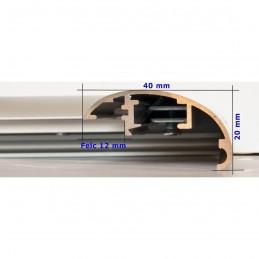 ALUS7 - szeroka rama aluminiowa srebrna anoda owal - wymiary