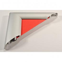 ALUS7 - szeroka rama aluminiowa srebrna anoda owal - przekrój red