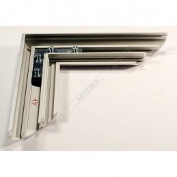 ALUS7 - szeroka rama aluminiowa srebrna anoda owal - plecy