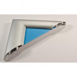 ALUS7 - szeroka rama aluminiowa srebrna anoda owal - przekrój blue