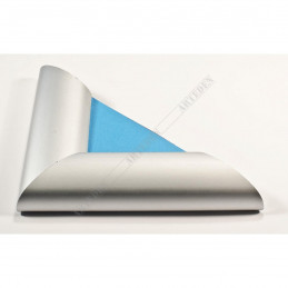 ALUS7 - szeroka rama aluminiowa srebrna anoda owal - narożnik blue