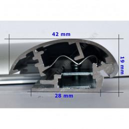 ALUZ7 - szeroka rama aluminiowa owalna - wymiary