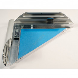 ALUZ7 - szeroka rama aluminiowa owalna - otwarte zatrzaski