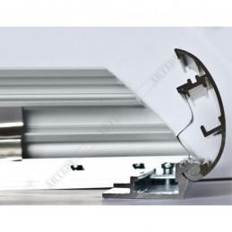 ALUZ7 - szeroka rama aluminiowa owalna - przekrój z otwartym zatrzaskiem