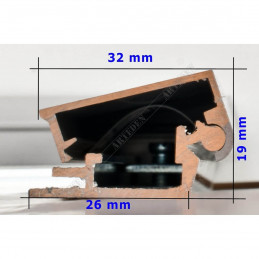 ALUZ8 - szeroka rama aluminiowa - wymiary