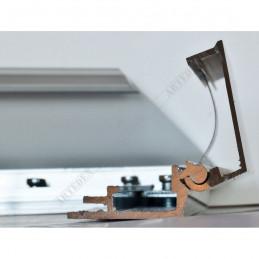 ALUZ8 - szeroka rama aluminiowa - przekrój z otwartym zatrzaskiem