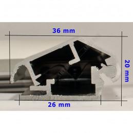 ALUZ9 - szeroka rama aluminiowa ukośna - wymiary