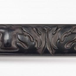 INK5334.072 40x25 - rzeźbiona czarna matowa rama do obrazów - z góry