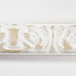 INK5334.082 40x25 - rzeźbiona biała matowa rama do obrazów z góry
