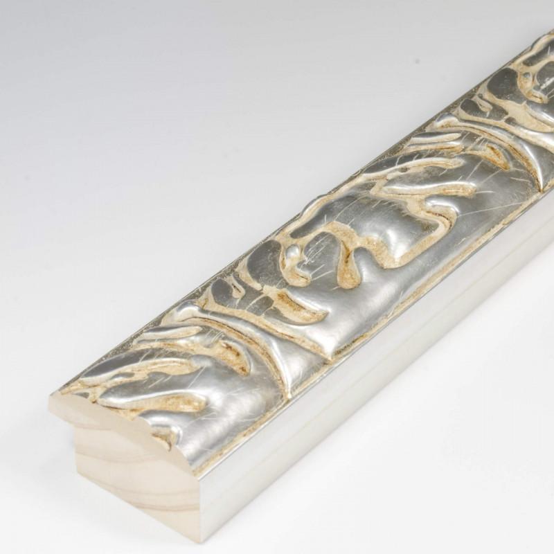 INK5334.650 40x25 - rzeźbiona srebrna rama do obrazów i luster