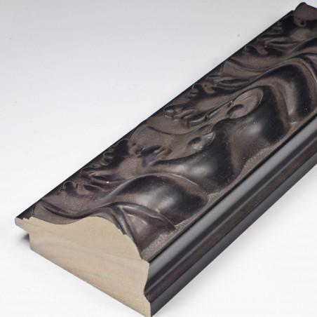 INK5337.072 70x40 - rzeźbiona matowa czarna rama do obrazów