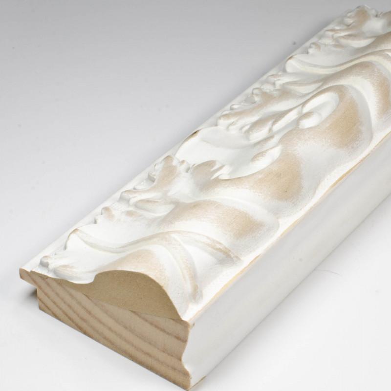 INK5337.082 70x40 - rzeźbiona matowa biała rama do obrazów