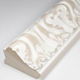 INK5337.082 70x40 - rzeźbiona matowa biała rama do obrazów od środka
