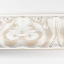 INK5337.082 70x40 - rzeźbiona matowa biała rama do obrazów od góry