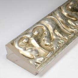 INK5337.602 70x40 - rzeźbiona ciemno srebrna rama do obrazów od środka