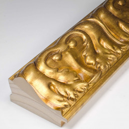 INK5337.702 70x40 - rzeźbiona złota rama dukatowa do obrazów od środka