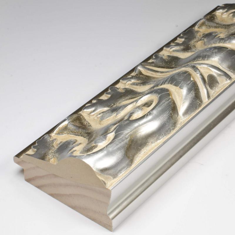 INK5337.650 70x40 - rzeźbiona srebrna rama do obrazów i luster