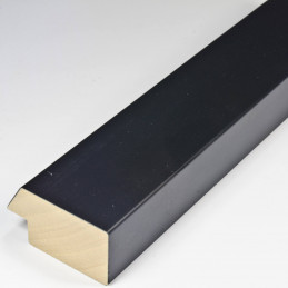 SCO818/31 50x25 - drewniana czarna matowa rama do obrazów i luster