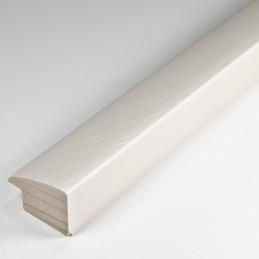 SCO492/215 32x20 - laminowana biała drapana rama perłowa do obrazów
