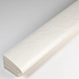SCO492/215 32x20 - laminowana biała drapana rama perłowa do obrazów od środka