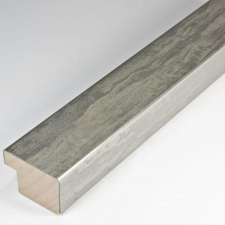SCO331/104 35x22 - kamień metalizowany postarzana srebrna rama do obrazów