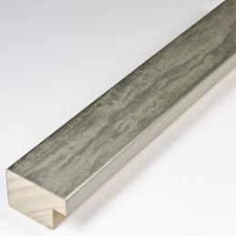 SCO331/104 35x22 - kamień metalizowany postarzana srebrna rama do obrazów od środka