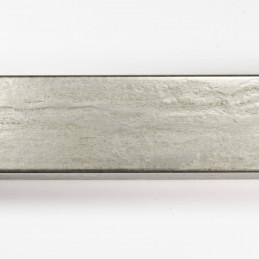 SCO331/104 35x22 - kamień metalizowany postarzana srebrna rama do obrazów od góry