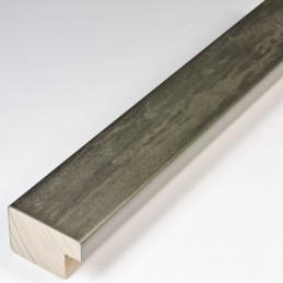 SCO331/105 35x22 - kamień metalizowany postarzana grafitowa rama do obrazów od środka