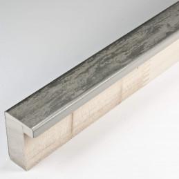 SCO330/104 20x32 - kamień metalizowany postarzana srebrna rama do obrazów od środka