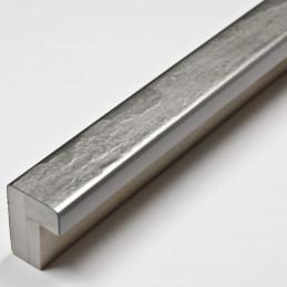 SCO332/104 15x20 - kamień metalizowany postarzana srebrna rama do obrazów od środka