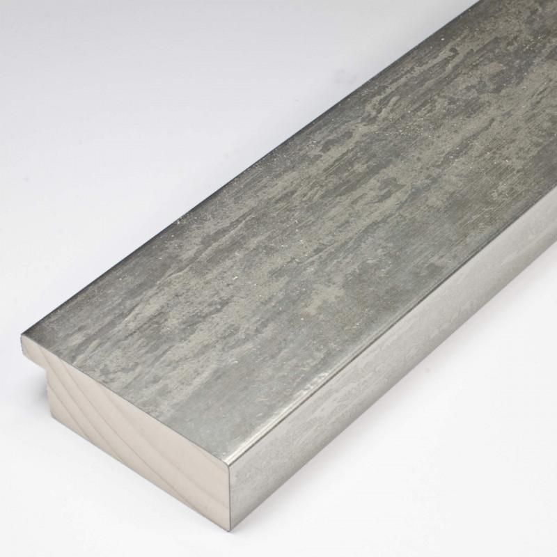 SCO333/104 62x21 - kamień metalizowany postarzana srebrna rama do obrazów