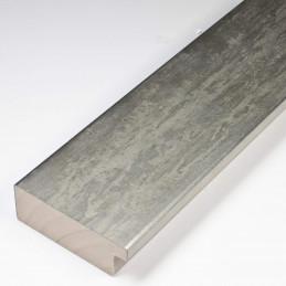 SCO333/104 62x21 - kamień metalizowany postarzana srebrna rama do obrazów od środka