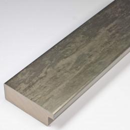 SCO333/105 62x21 - kamień metalizowany postarzana grafitowa rama do obrazów od środka