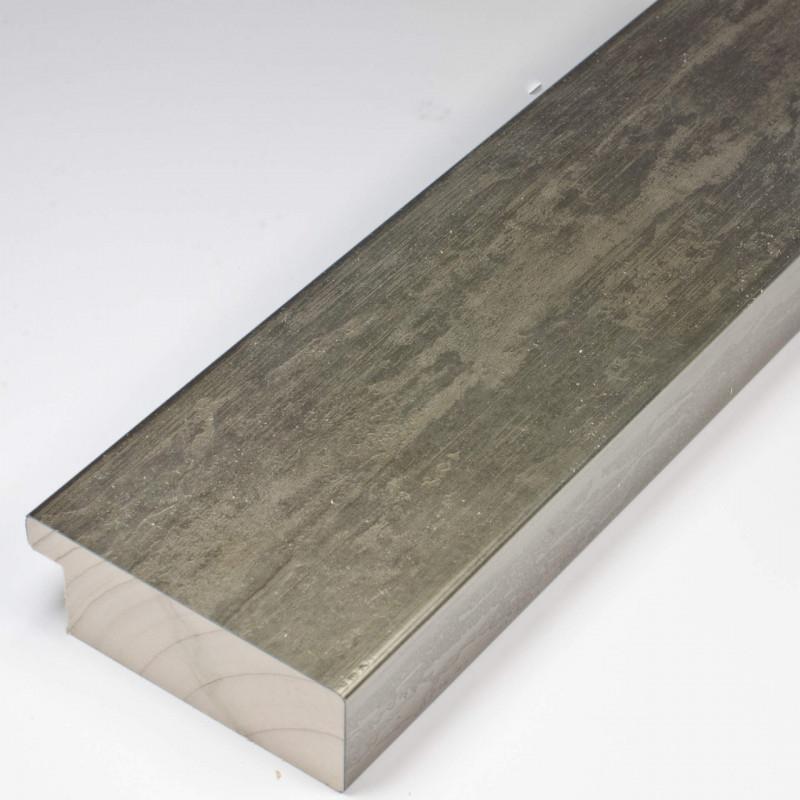 SCO333/105 62x21 - kamień metalizowany postarzana grafitowa rama do obrazów
