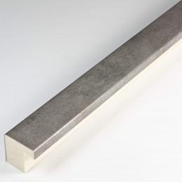 SCO6008/221 20x20 - mała srebrna ramka postarzana do zdjęć od środka