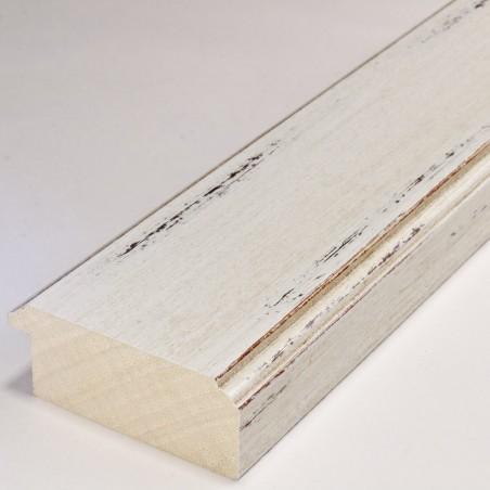 BOE176.73.048 75x30 - szeroka kremowa przecierana rama do obrazów